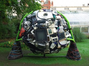 E-waste sculpture