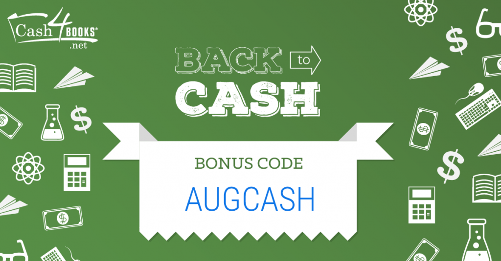 Sell Your Textbooks with our Back to Cash Bonus