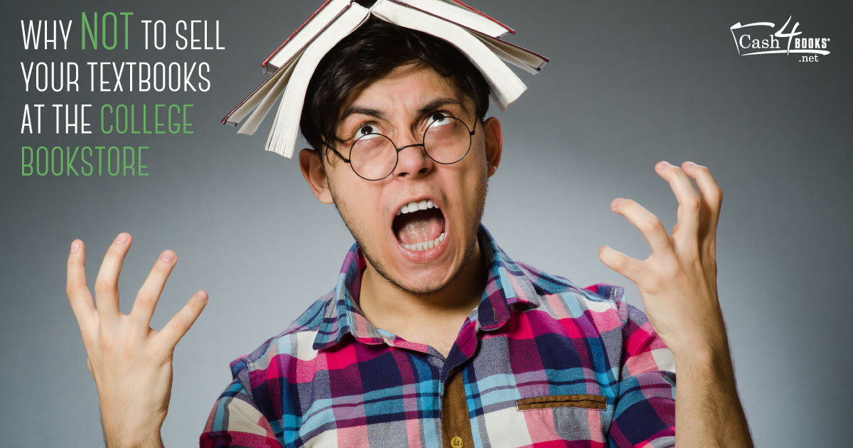 These stock photos illustrate why you should avoid selling your textbooks to the school bookstore at all costs.