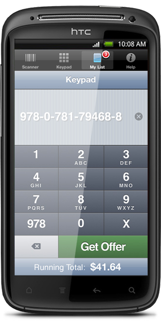 cash4books android app keypad