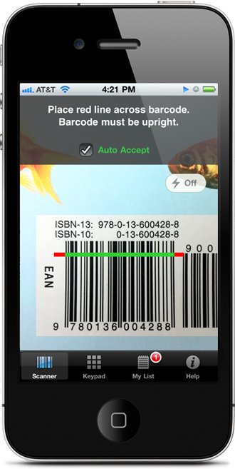 cash4books iphone app barcode scanner