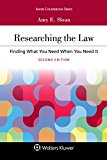 Researching the Law: Finding What You Need When You Need It (Aspen Coursebook)