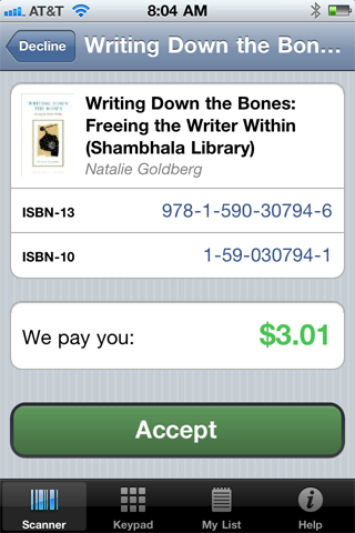 cash4books iphone app screenshot